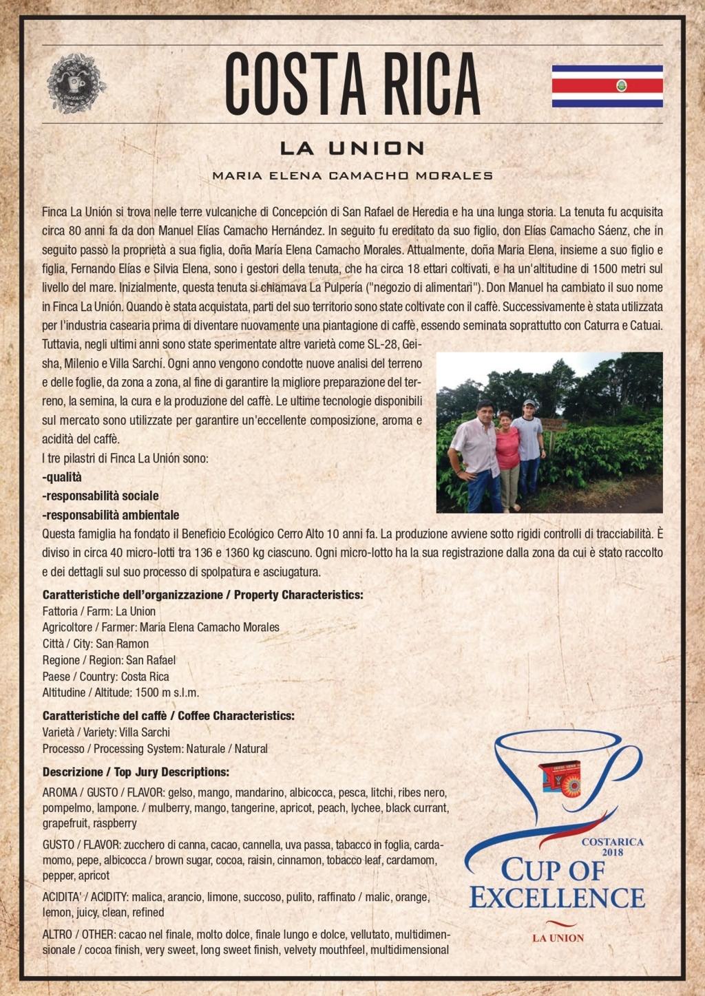 Caffè Pascucci Costa Rica La Union Cup Of Excellence ITA